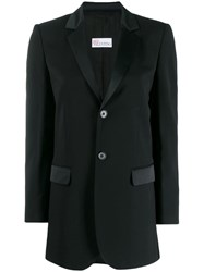 Red Valentino Slim Fit Blazer Black