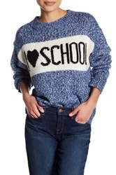 Wildfox Couture School Holiday Sweater Blue