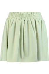 Red Valentino Redvalentino Gathered Crepe Mini Skirt Mint
