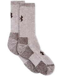 Under Armour Women's 2 Pk. Boot Socks Brown Marl