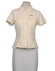 Guess Short Sleeve Shirts Beige