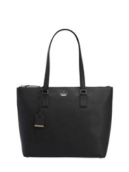 Kate Spade Lucie Leather Saffiano Tote Bag Black