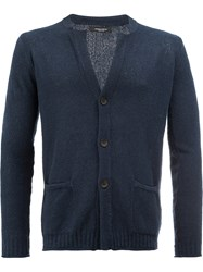 Roberto Collina V Neck Cardigan Blue