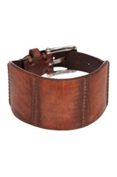 John Varvatos Inlay Ball Cuff Bracelet Brown