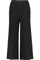 Iris And Ink Ribbed Wool Culottes Black