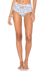 Ondademar High Waist Bikini Bottom Turquoise