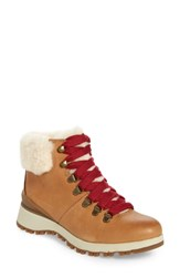 Bionica Diablo Genuine Shearling Bootie Luggage Tan Leather Shearling