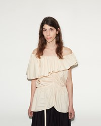 Christophe Lemaire Bare Shoulder Top Nude