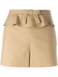 Red Valentino Frill Trim Shorts Nude Neutrals