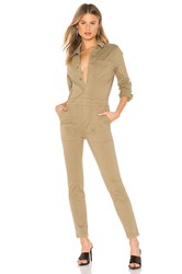 Monrow Fitted Jumpsuit Olive