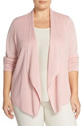 Plus Size Women's Eileen Fisher Silk Drape Front Cardigan Primrose
