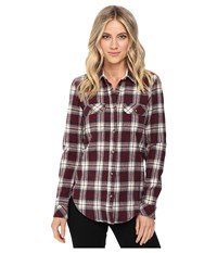 Vans No Ones Flannel Port Royale Women's Clothing Burgundy