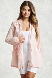 Forever 21 Hooded Windbreaker Jacket Pink