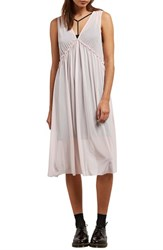 Volcom Stratum Layered Midi Dress Pink Light
