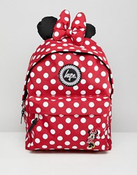 Hype Red Minnie Mouse Disney Backpack Red And White Polka