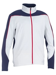 Galvin Green Duke Insula Full Zip Jumper White