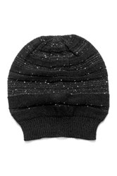 Muk Luks Solid Sprinkled Beanie Black