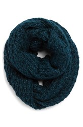 Women's Halogen Waffle Knit Infinity Scarf Blue Green Teal Abyss