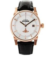 Vivienne Westwood The Finsbury Ii Leather Strap Watch Black One Colour