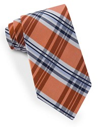Lord And Taylor James Plaid Tie Orange