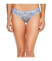 Jets By Jessika Allen Encounter Gathered Bikini Bottom Mazarine Women's Swimwear Blue