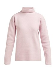 Sies Marjan Wolf Merino Wool Roll Neck Sweater Pink