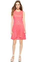 Nanette Lepore Villa Lace Dress Neon Coral