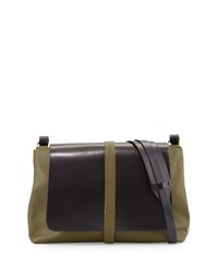 Kelsi Dagger Commuter Colorblock Messenger Bag Olive Black