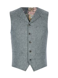 Gibson Men's Light Blue Denim Look Twill Vest Light Blue