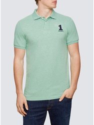 Hackett London New Classic Number Polo Shirt Green