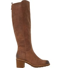 Dune Tibbi Knee High Leather Boots Tan Nubuck