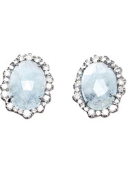 Kimberly Mcdonald Aquamarine And Diamond Stud Earrings