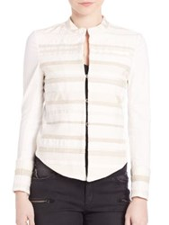 Superfine Embroidered Jacket White