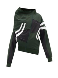 Y Project Deconstructed Technical Jersey Sweatshirt Green White