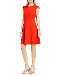 Vince Camuto Seamed Fit And Flare Dress Dynamic Red