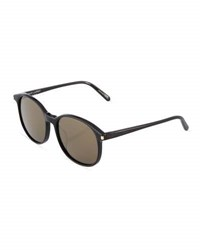 Saint Laurent Oval Plastic Sunglasses Black