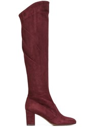 L'autre Chose Square Heel Boots Pink And Purple
