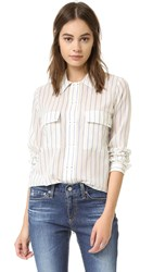 Intropia Striped Button Down Denim