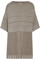 Autumn Cashmere Textured Knit Sweater Taupe