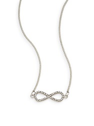 Sequin Pave Infinity Necklace Silver