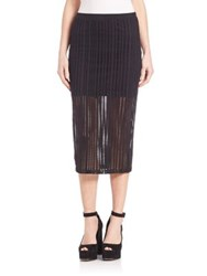 Alexander Wang Stretch Cotton Jersey Jacquard Fitted Skirt Black