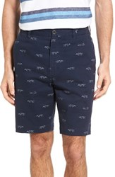 Rodd And Gunn Men's Lauriston Print Twill Shorts Indigo