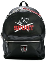 Plein Sport Eco Leather Backpack Black