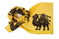 Thomas Paul Extra Long Wool Scarf Camels Yellow