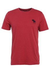 Abercrombie And Fitch Exploded Icon Basic Tshirt Red