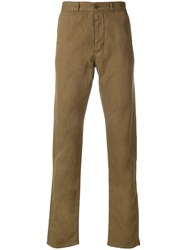Maison Kitsune Slim Trousers Brown