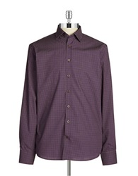 Pure Patterned Sportshirt Purple