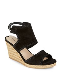 Via Spiga Izett Suede Slingback Wedges Black