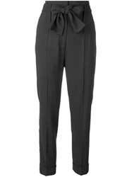 Fabiana Filippi Belted High Waist Cigarette Pants Grey
