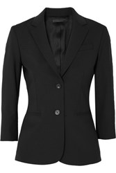 The Row Schoolboy Stretch Wool Blend Crepe Blazer Black